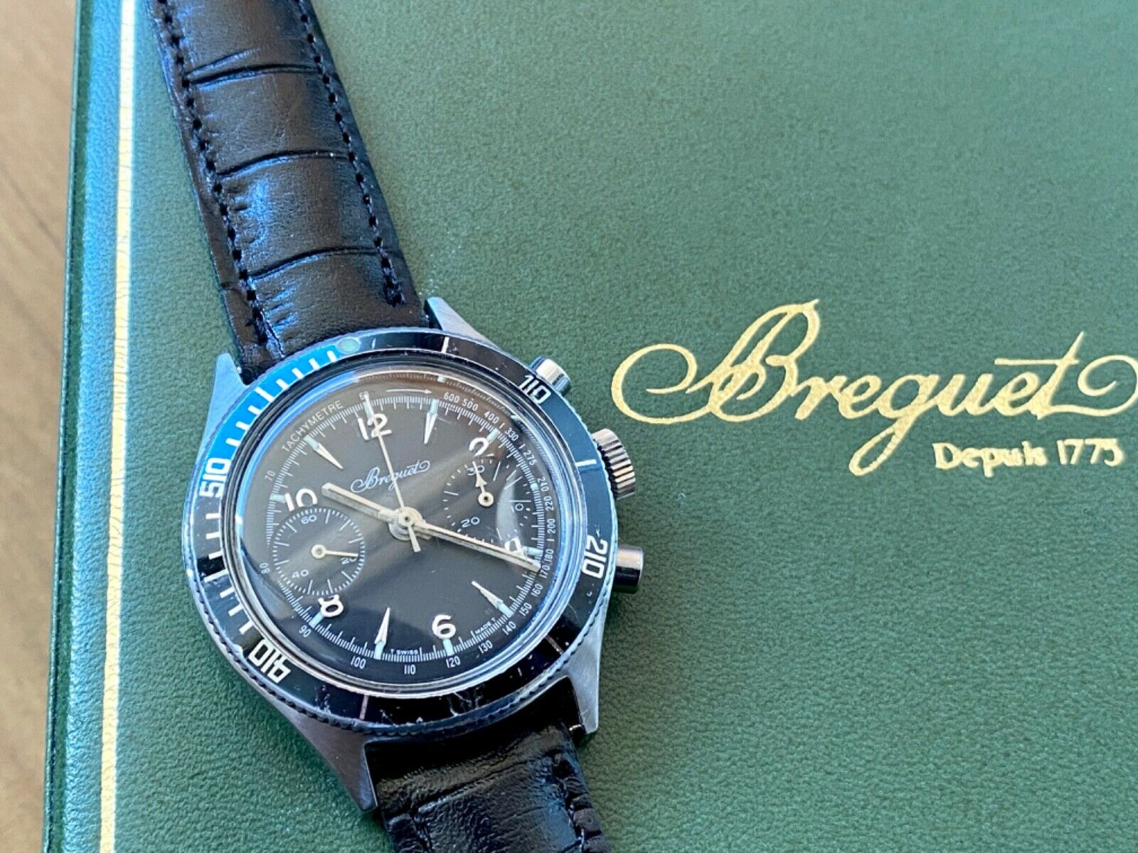 Impeccable Chronograph Breguet Type XX Men's Vintage Watch1970s UPS Shipping - watch picture 1