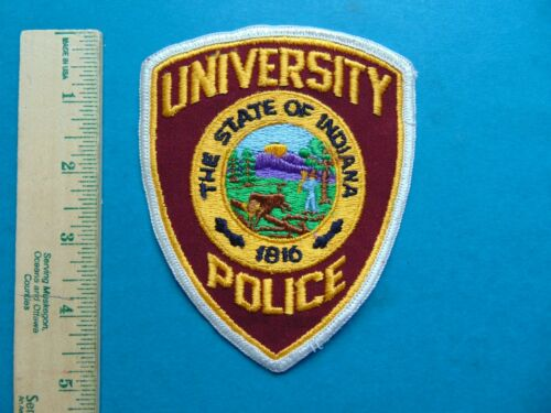 THE STATE OF INDIANA UNIVERSITY POLICE SHOULDER PATCH