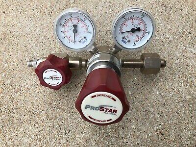 Prostar 3002 Stainless Steel Brass High Purity Dual Stage Gas Regulator Cga 540