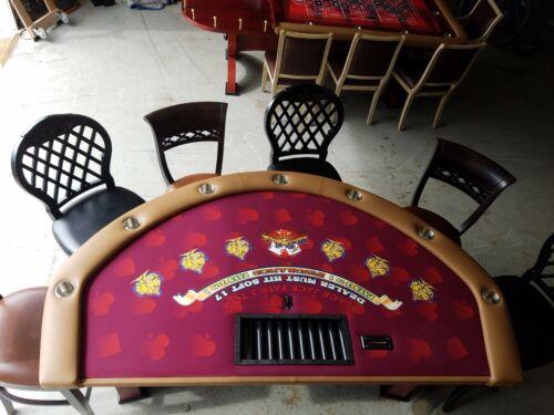 Blackjack Table Oak  RedFelt Signed by Nicklas Backstrom #19 CAPITALS