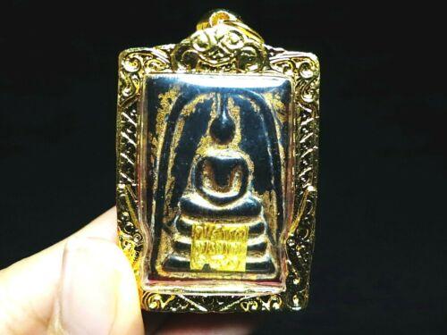 Green Jade Phra Somdej Pimyai Buddha Wat Phra Kaew Wangna Thai Amulet