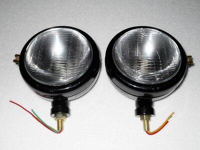 Ford Tractor Head Light Set Lh Rh 12 V Black