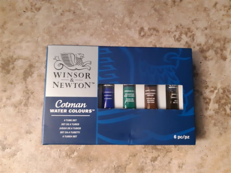 Winsor & Newton Cotman Water Colours 6 Tube Set - 8ml