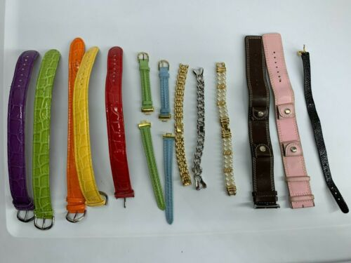 Lot of 13 Mixed Watch Wristbands Replacement Accessories PART REPAIR RESELL