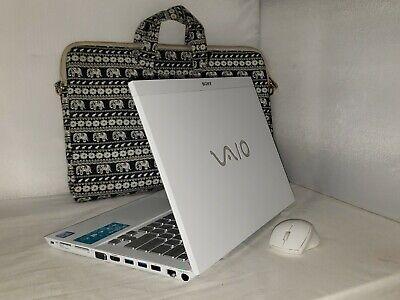 "White Sony Vaio S Series 13.3"" 250gb ssd 6gb i5 2.50GHz Windows 10 Pro Office"