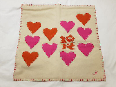 BNWT Jan Constantine multi hearts cushion cover (no pad)