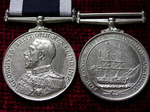 Replica-Copy-WW1-GV-Admirals-Bust-Royal-Naval-Long-Service-Good-Conduct-Medal
