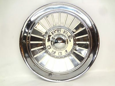 "Ford 1957 Hubcap Hub Cap 14"" Wheel Cover Fairlane Sunliner Skyliner Ranchero OEM"