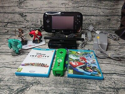 Nintendo Wii U Console 32gb Complete with Game and Luigi Wii Remote Tested