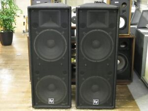 """Electrovoice speakers dual 15"""" drivers"""