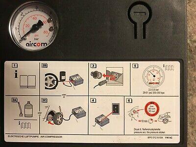 VW AUDI SKODA elektrische Luftpumpe Kompressor Pumpe Pannenset 8P0.012.615.A