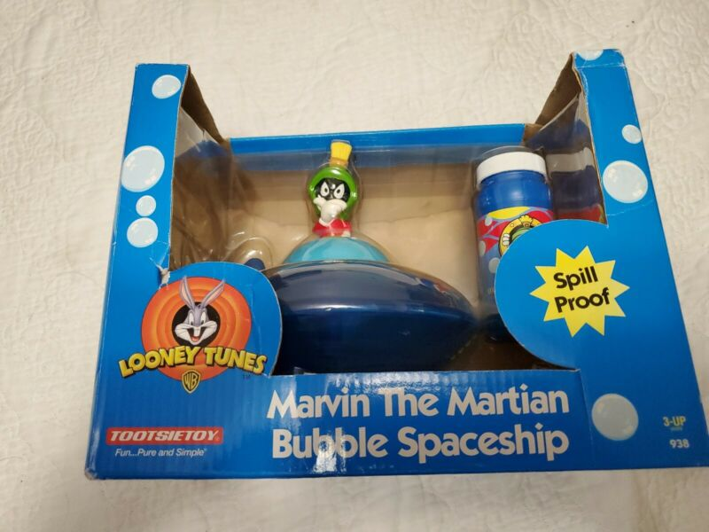 1999 Vintage~Looney Tunes Marvin the Martian Bubble Spaceship NEW