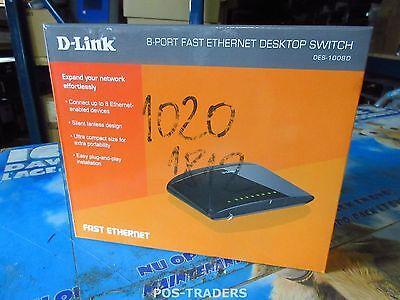 D-Link DES-1008D Switch 8 Anschlüsse 10/100 Netzwerk Network Switch - NEW NEU