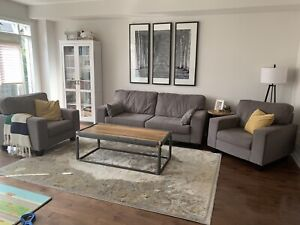 REDUCED PRICE $800 OBO Living Room Set with Couch and 2 Chairs