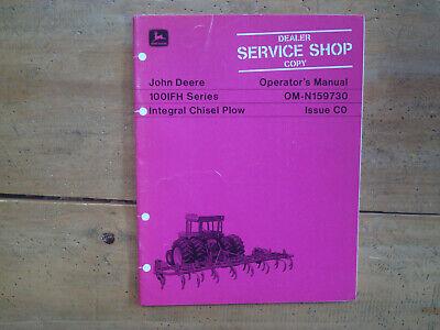 John Deere 100ifh Series Integral Chisel Plow Operators Manual