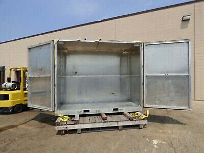 Aluminum Shipping Container 48 X 114 X 94 Double Door Fork Pockets Nice
