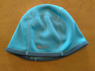 69cf3d55793 NikeFIT Nike Fit Fleed Lined Ponytail Hat Blue Gray Free Ship!