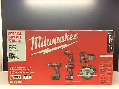 Milwaukee 2696-25 M18 5-piece Cordless Tool Combo Kit New