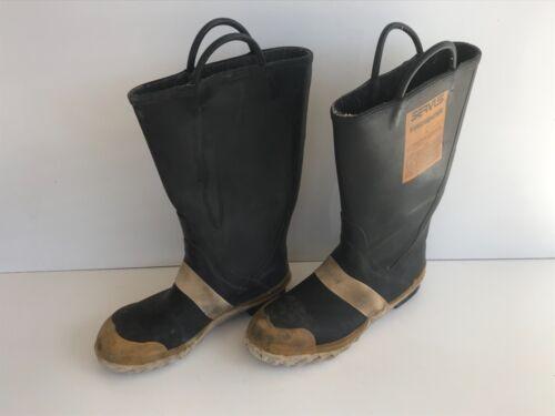 Servus FireFighter fireman boots 9-1/2M 10-1/2 Wide