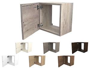Cubi in legno 35x35 cm arredo design con sportello e for Cubi in legno per arredare