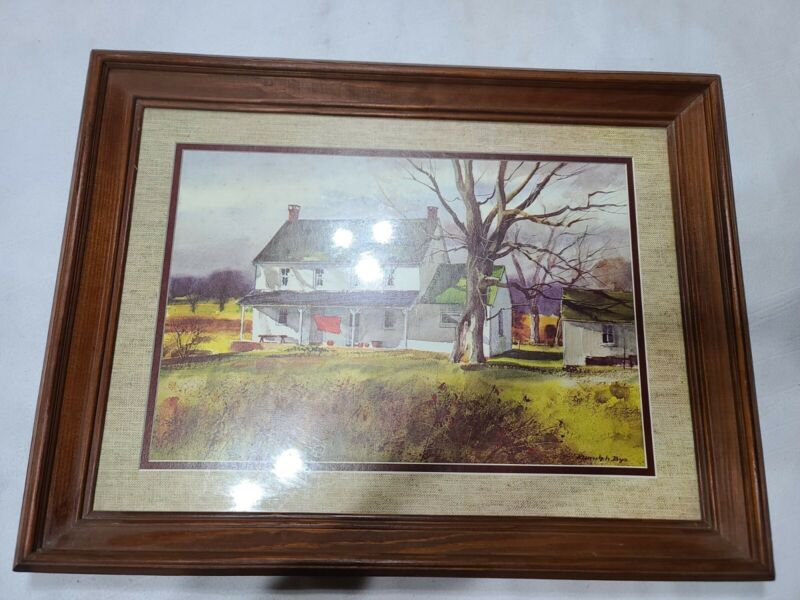 Vintage Home Interiors framed wall art
