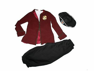 Boy Disney Store Captain Hook Pirate Halloween Costume Dress Up Size M 7/8](Boys Captain Hook Costume)