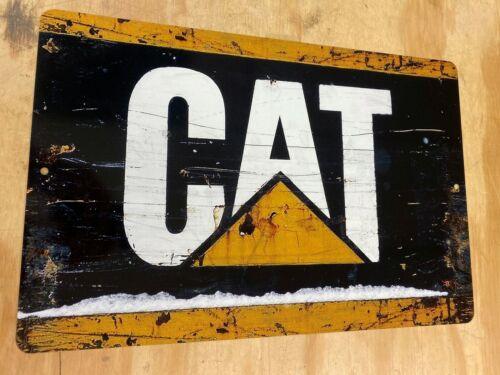"Caterpillar Tractor Cat Heavy Equipment Rustic Metal Tin Sign 12""x18"""