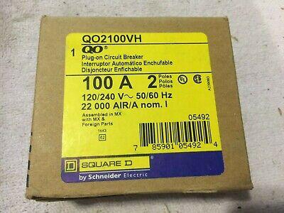 New In Box Square D Qo2100vh 100 Amp 2 Pole 120240v 22k Plug On Circuit Breaker