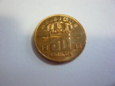 50 centimes belgique pièce - belgie munt 1996
