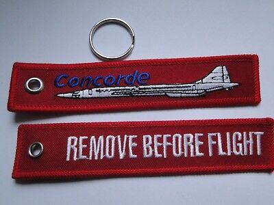 Schlüsselanhänger/Key-ring   REMOVE BEFORE FLIGHT  Concorde ca 13x2,5, cm