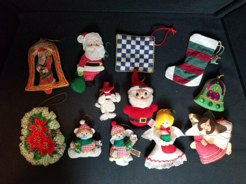 "Christmas Tree Ornament 12 Lot 3.5""-5"""
