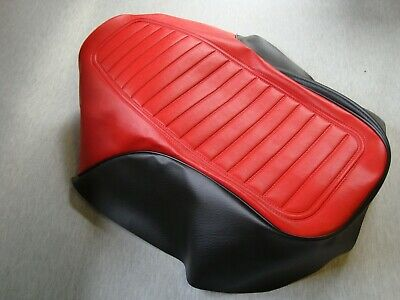 MOTORCYCLE SEAT COVER   <em>YAMAHA</em> RXS100 IN BLACK AND RED