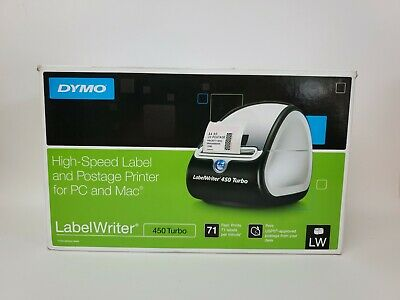 Dymo Label Writer 450 Turbo Label Thermal Printer Black 1750283 For Pc And Mac