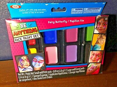 NEW UnOpened FACE PAINT SET Fairy Butterfly WASHABLE Ideal 8 Color Children Kids](Face Paint Butterfly)