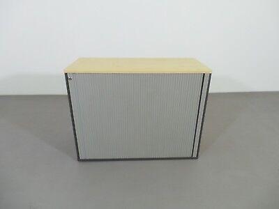 Dobergo Aktenschrank Sideboard 2OH Holz Dekor Esche Querrollo