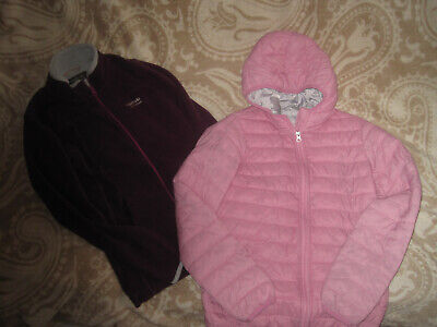 in Gr. 152 für Mädchen und leichte Übergangsjacke in rosa (Mädchen Rosa Fleece-jacke)