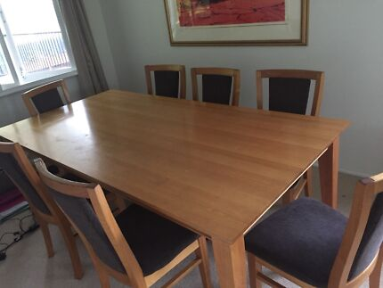 Tassie Oak Dining Table Chairs Ent Unit Buffet Coffee Etc