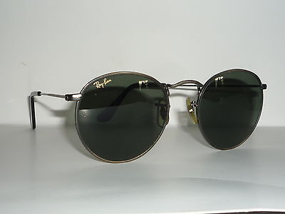 Top Zustand! Vintage Ray Ban USA B&L Round metal 50mm W0967  orig. case