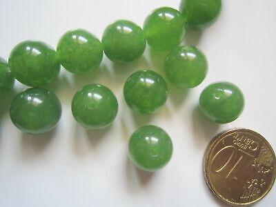 Perlas bola cristal verde 10 mm mm X 10 UNIDADES traslúcido abalorios