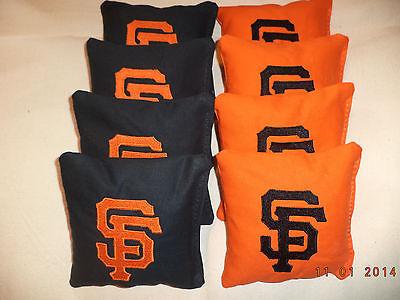 ( Cornhole bags San Francisco Giants SF corn hole bean bags 8 ACA Regulation MLB)