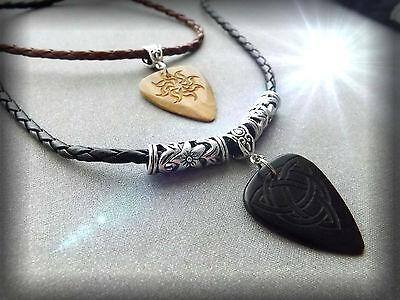 Celtic Spiritual Guitar Pick Choker - 2 Designs - Customisable