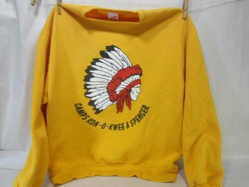 YMCA Camps- Kon-o-Kwee & Spencer-PA- Large Sweatshirt w/Indian Chief Motif