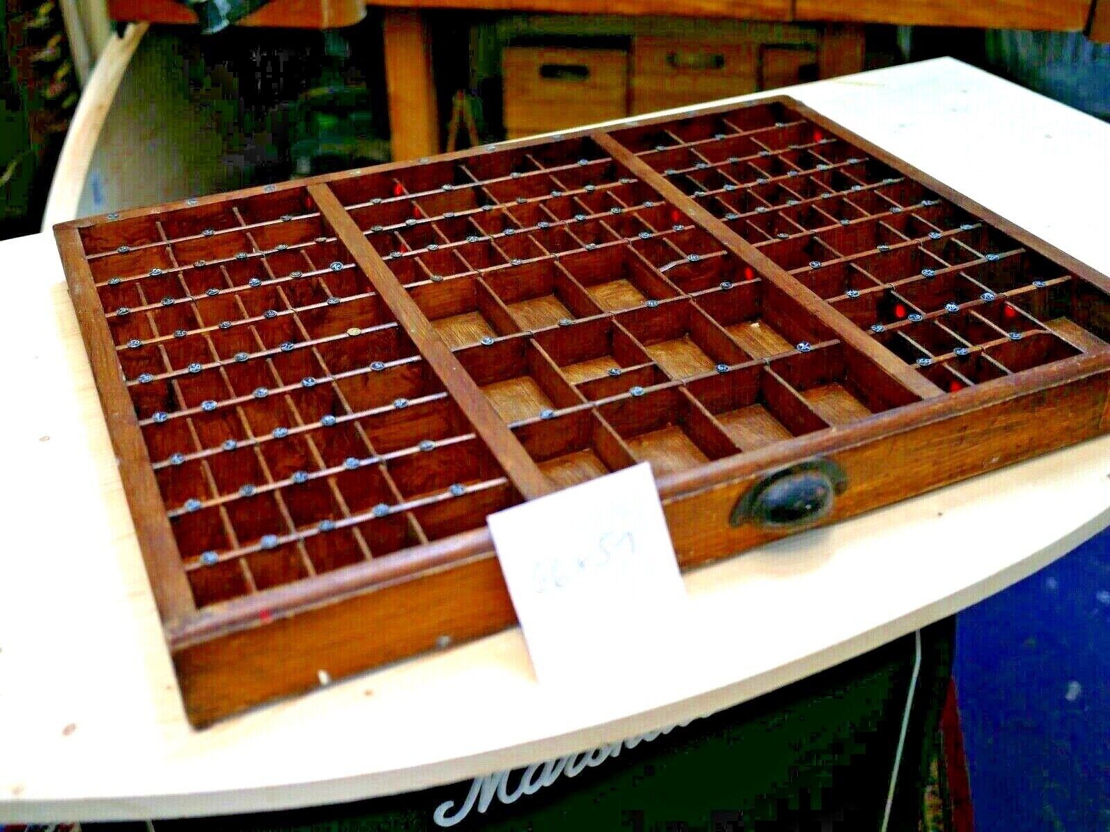 originale Setzkästen Druckerei Holz Druckerschublade Sortierkasten Vintage alt