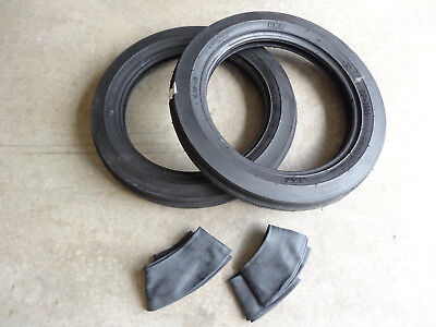 Two 4.00-19 Bkt Tf9090 Tri-rib 3 Rib Front Tractor Tires With Tubes 8n 9n Ford