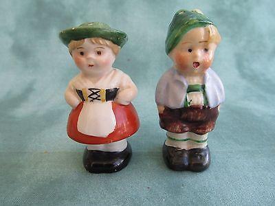 Vintage German Boy and Girl Salt & Pepper Shakers