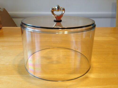 """Vintage Replacement Plastic Cheese Board Dome 6 1/4"""" Diameter"""