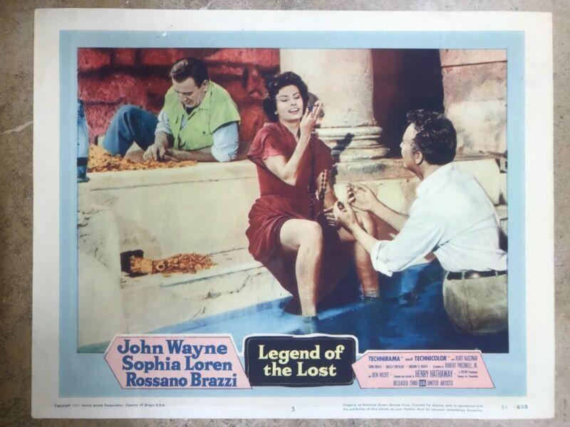 1957 JOHN WAYNE LEGENDS OF THE LOST LOBBY CARD 11x14 (JW61)