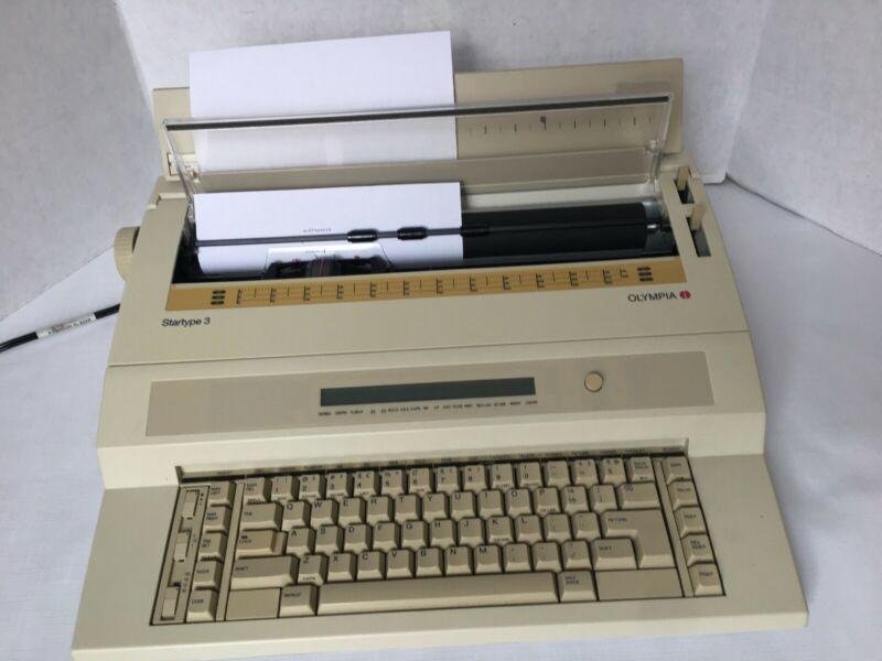 Olympia Startype 3 Electric Typewriter Tested