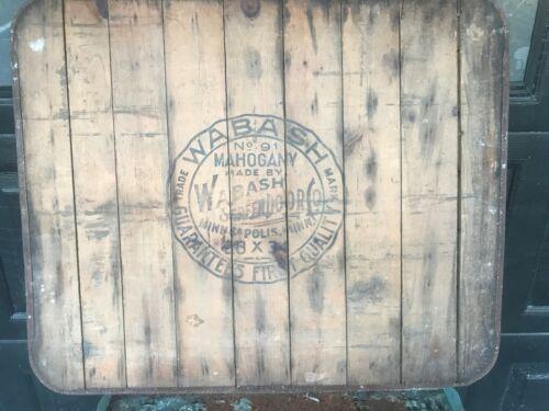 "Vintage Wabash Screen Door Co No 91 Mahogany Stove Board 34"" x 28"" Minnesota"