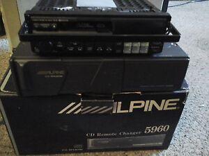 alpine car audio cd shuttle player,rare,7618 model,mint conditio